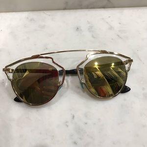 Dior SO REAL sunglasses gold